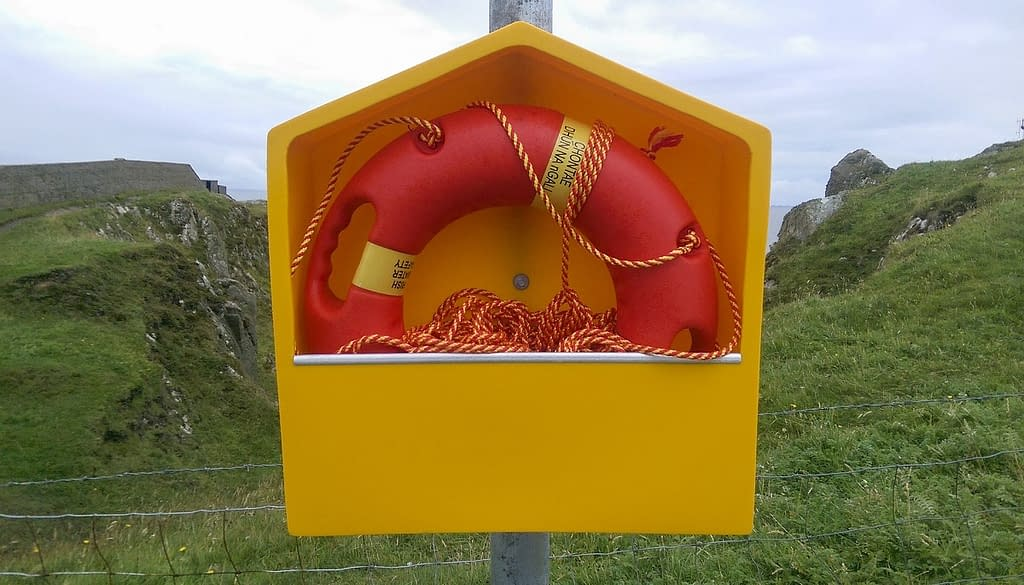 life buoy to illustrate Which god provides salvation for us?
