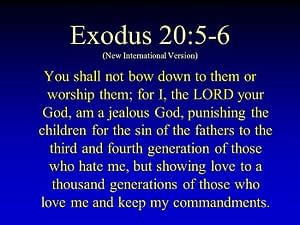 A jealous God, punishing sin for generations. Or maybe not?
