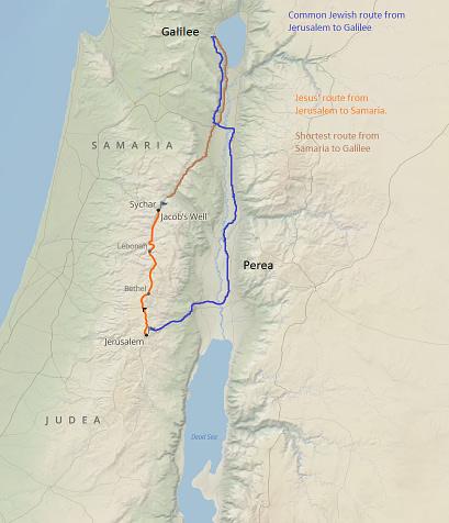 map - jesus and samaritan woman