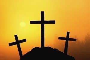 when Jesus died - three crosses